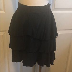 Guess by Marciano black tiered skirt